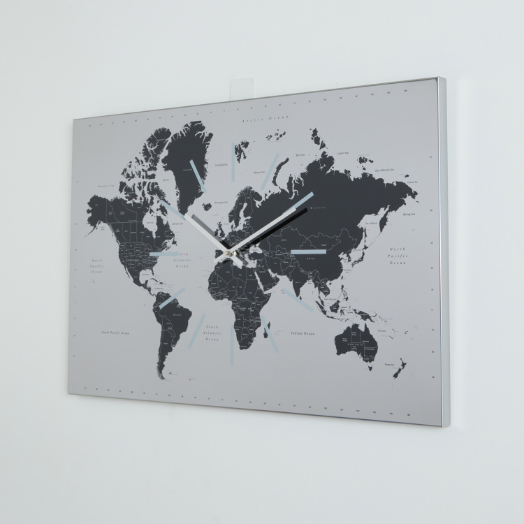 Worldwide Rectangular Wall Clock