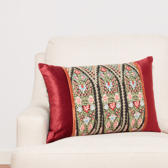 Gulmarg Embroidered Filled Cushion - 40x65 cms