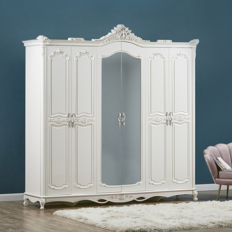 Anthea 6-Door Wardrobe with Mirror