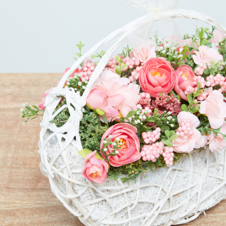 Ruth Decorative Mixed Flower Arrangement with Basket