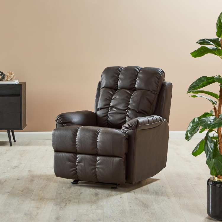 Berry Faux Leather Manual Recliners