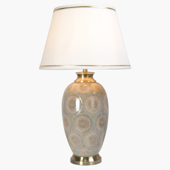 Martine Electrical Table Lamp with Printed Base