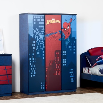 Disney Spider-Man Printed 3-Door Wardrobe