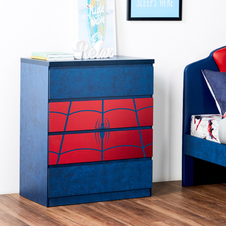 Disney Spider-Man Printed 4-Drawer Chest of Drawers