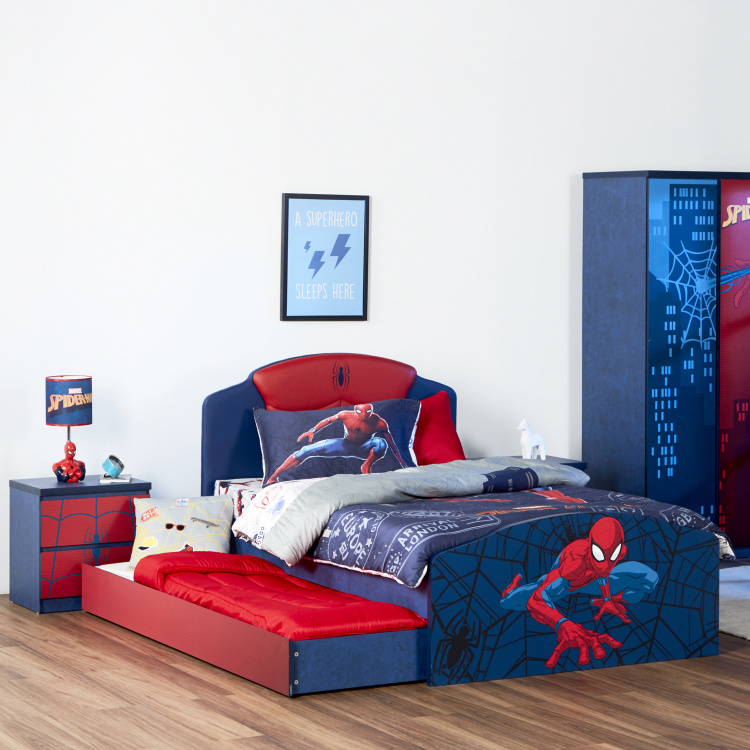 Disney Spider-Man Printed Single Trundle Bed - 90x190 cms