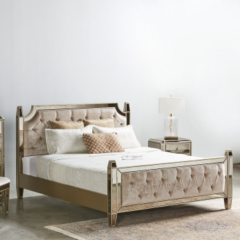 Jewel Bed with Mirror Finish - 180x210 cms