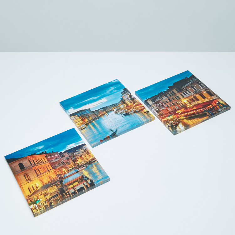 Tryptic Night Printed Canvas - Set of 3