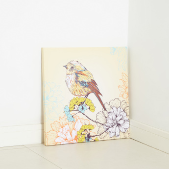 Colour Sparrow Printed Canvas
