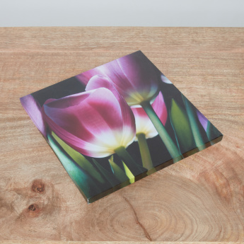 Mystic Tulips B Printed Canvas - 30x30 cms