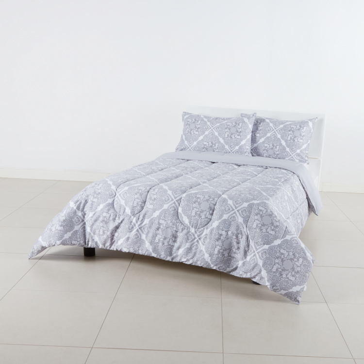 Edana Printed 3-Piece Queen Comforter Set - 200x240 cms