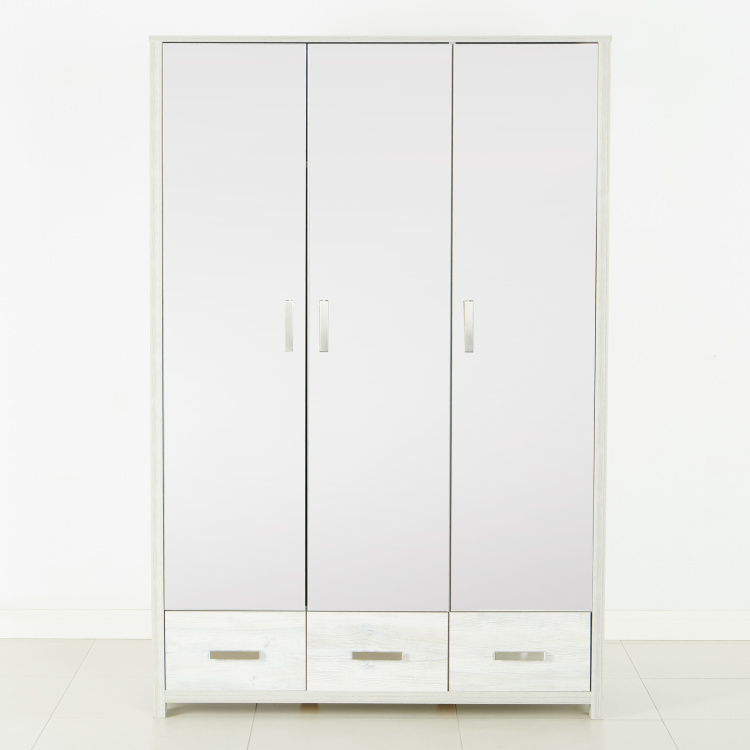 Tyler New 3-Door Wardrobe with Mirror and 3 Drawers
