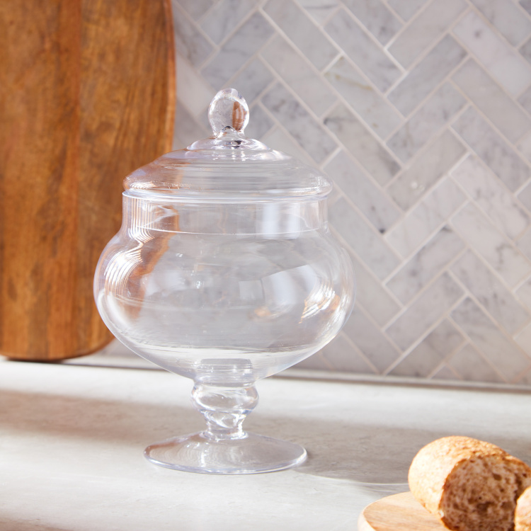 Cleo See-Through Jar with Lid