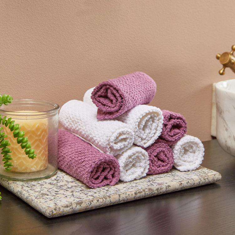 Day to Day Textured Face Towel - Set of 8
