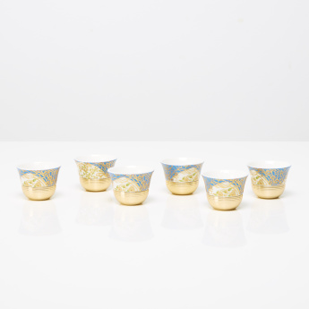 Pavo Printed 6-Piece Kahwa Cup Set