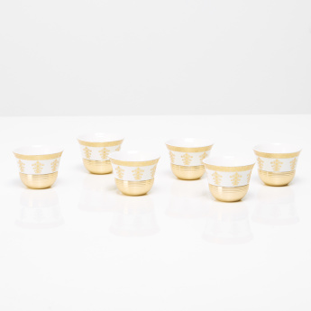 Majestic Printed 6-Piece Kahwa Cup Set - 80 ml
