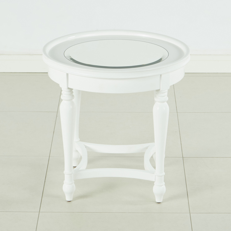 Durban End Table with Mirror Top
