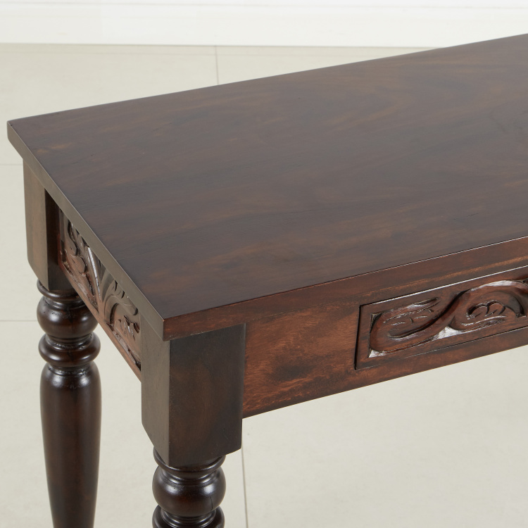 Maharaja Handcrafted 2-Drawer Console Table with Mirror