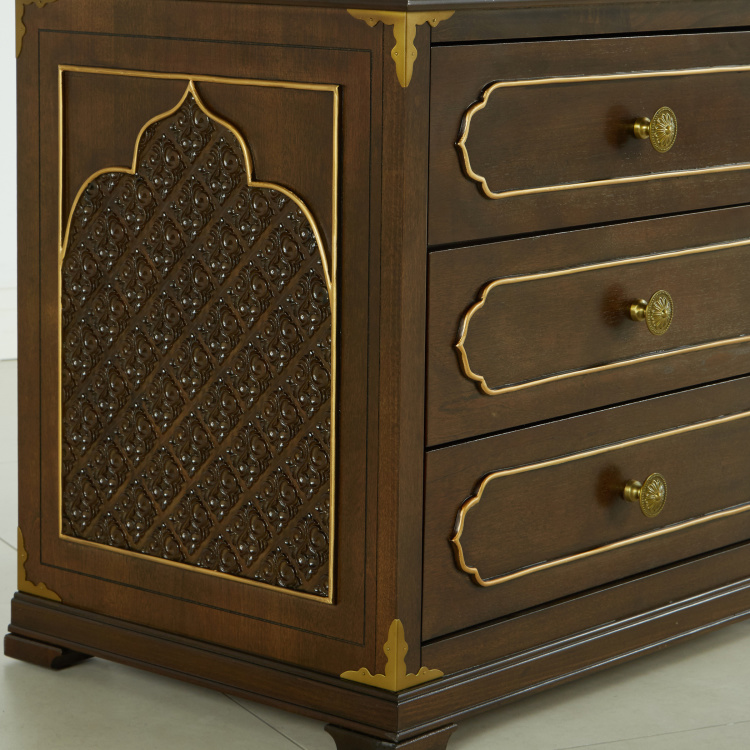 Mughal 6-Piece King Bedroom Set - 180x210 cms