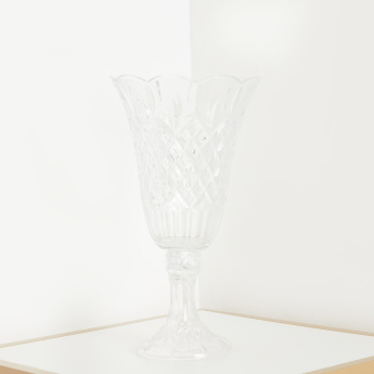 Dorun Clear Glass Decorative Stem Vase