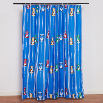 Champion Racer Printed Shower Curtain - 180x200 cms