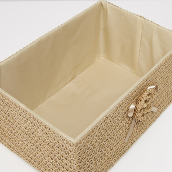 Paper Weave Handcrafted Rectangular Basket