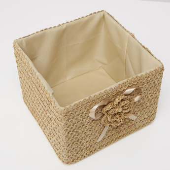 Paper Weave Handcrafted Square Basket