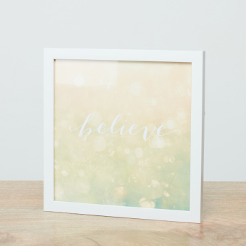 Believe Framed Wall Art