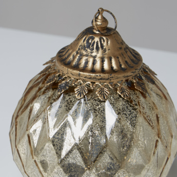 Vakker Round Lantern with Metallic Accent