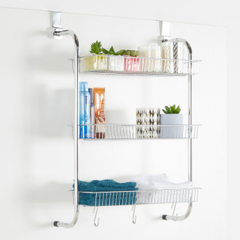 Over-the-Door 3-Tier Storage Basket