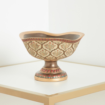Damask Textured Round Bowl