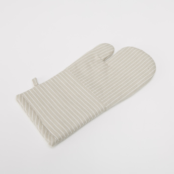 Twill Striped Oven Mitten