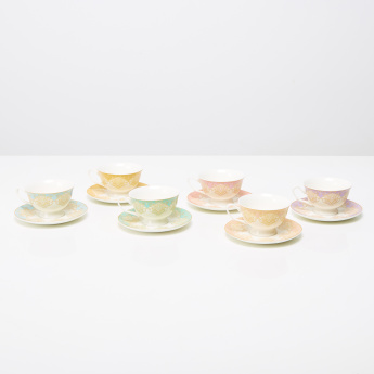 Persia 12-Piece Tea Cup and Saucer