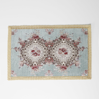 Majolika Rectangular Mat with Embroidery Detail