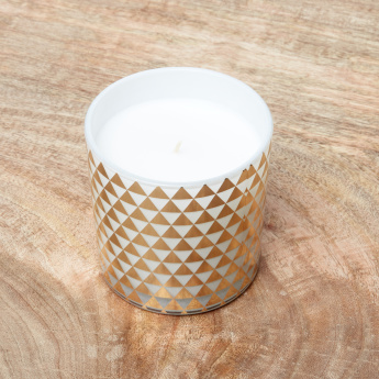 Night Bursa Geometric Print Jar Candle