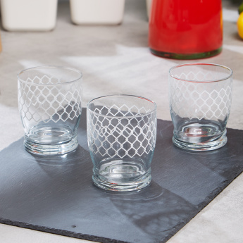 Giove Geometric Print 3-Piece Stoccolma Tumbler Set - 340 ml
