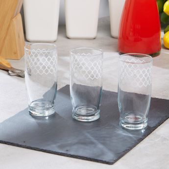 Giove Stoccolma Printed 3-Piece Tumbler Set - 420 ml