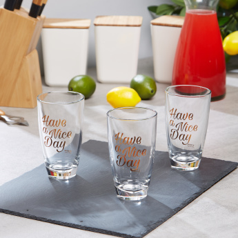 Fonte Have A Nice Day Print 3-Piece Tumbler Set - 370 ml