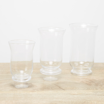 Glass Candle Holder - Set of 3