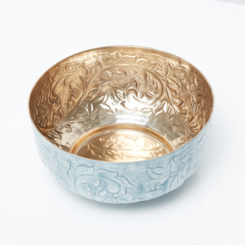 Senuris Alu Embossed Round Bowl