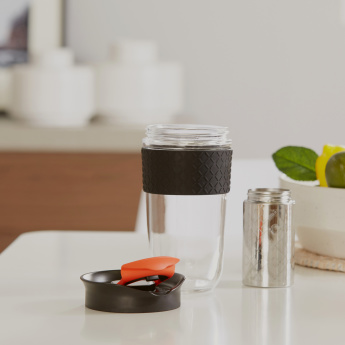 Herrin On-The-Go Tea Cup with Non-Slip Silicone Band