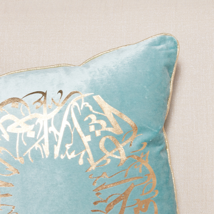 Calligraphy Luxe Filled Cushion - 45x45 cms