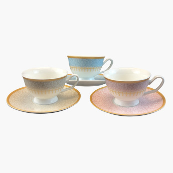 Mimira 12-Piece Espresso Cup and Saucer Set - 80 ml