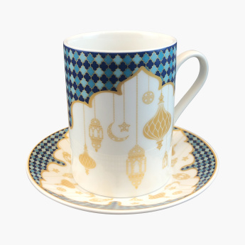 Celestial 6-Piece Teacup and Saucer Set - 180 ml