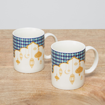 Celestial Printed Mug – Set of 2