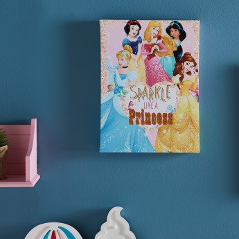 Disney Princess Printed Canvas with Glitter Detail