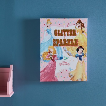Glitter Princess Printed Canvas Wall Frame