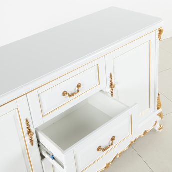 Bianca 6-Door Buffet and Hutch with 3-Drawers