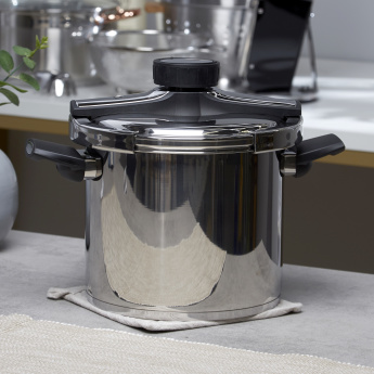 Master Pro Stainless Steel Pressure Cooker with Lid - 7 L