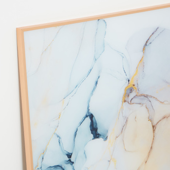Marble Lines Framed Wall Art