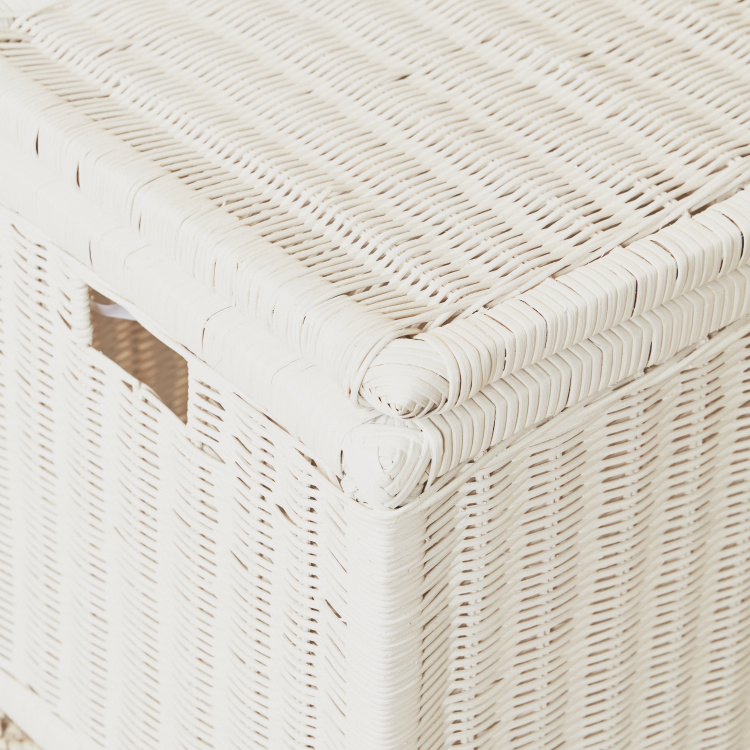 Rattan Rectangular Trunk - 66x38x40 cms